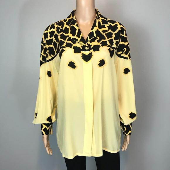 aaa02e93cd296c Escada Tops   Margaretha Ley Leopard Silk Blouse   Poshmark